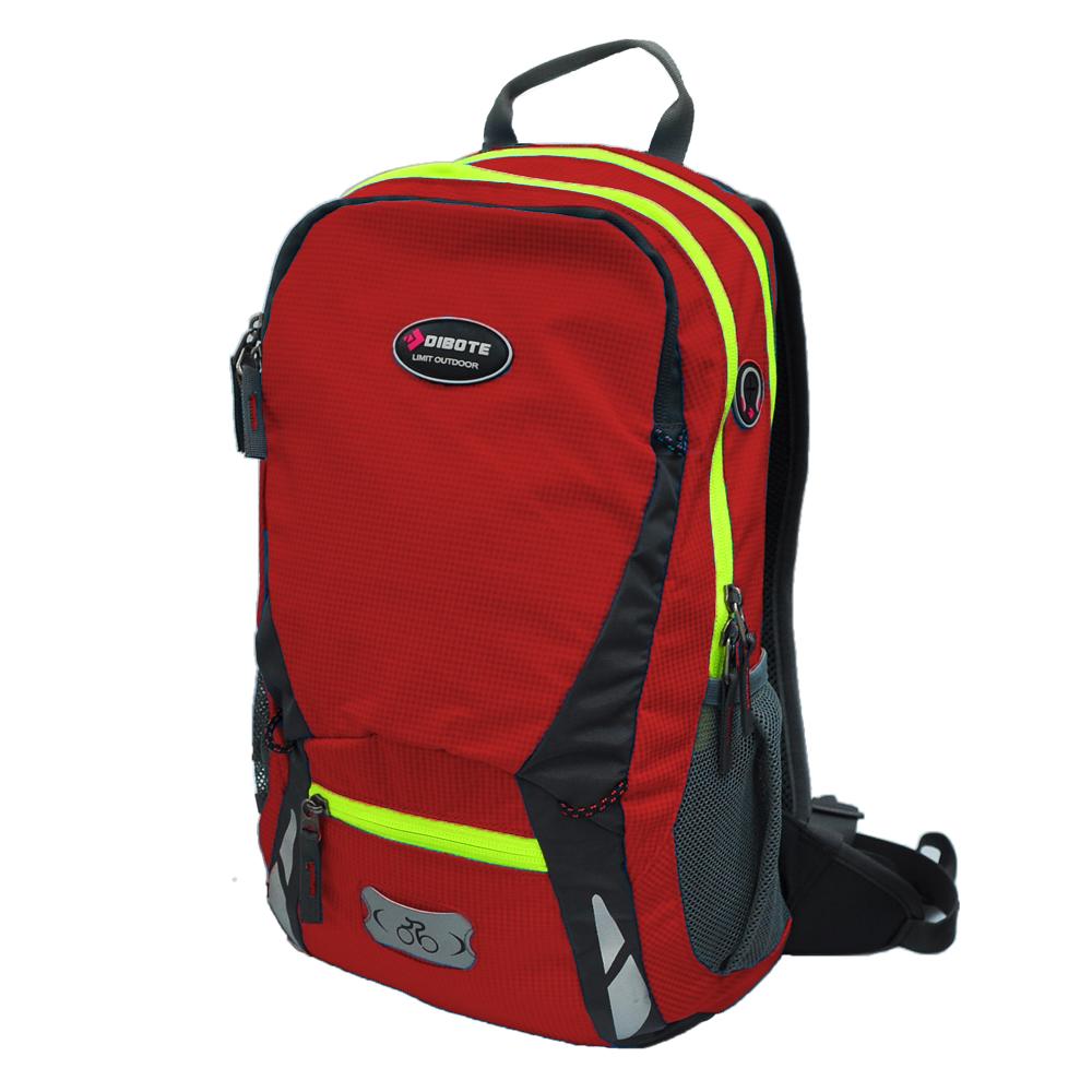 迪伯特DIBOTE 極限登山背包 可擴充騎行包 單車包 - 20L (紅)
