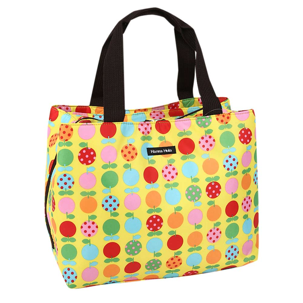 日本Hanna Hula-M型媽媽包-防潑水內襯(蘋果黃)