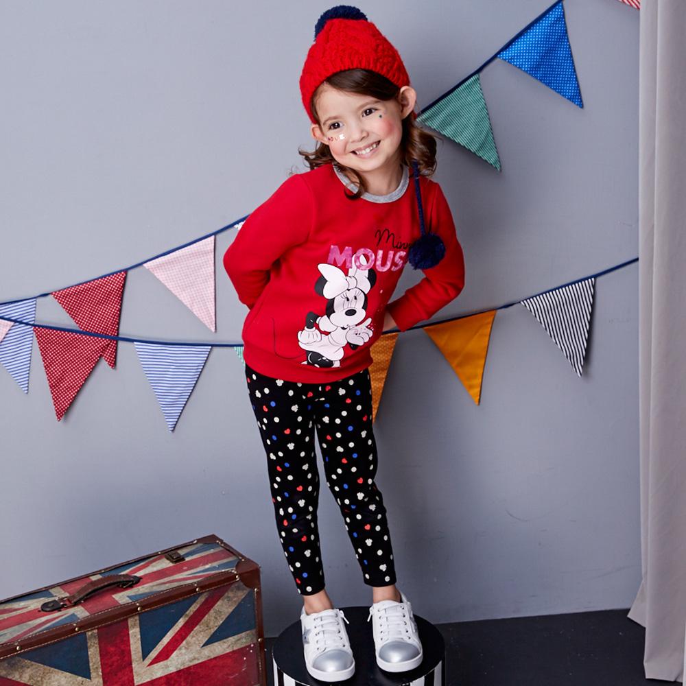 Disney baby米妮系列圓點彈力棉長褲 (共2色)