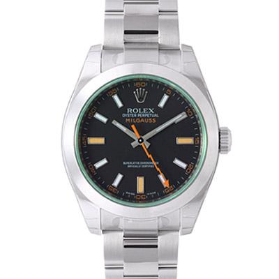 ROLEX 勞力士 MILGAUSS 116400GV 閃電秒針高抗磁腕錶-/40mm