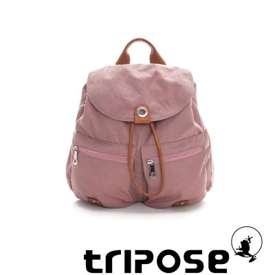 tripose MOVE系列輕休閒翻蓋機能後背包(小) - 粉膚