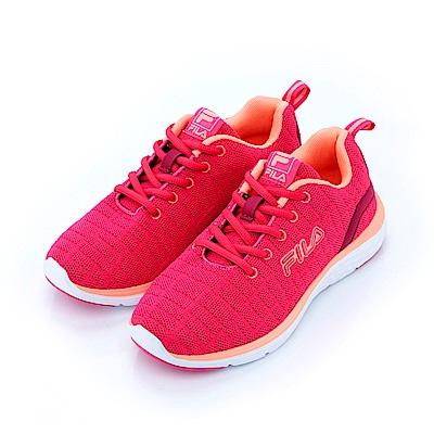 FILA 女慢跑鞋-桃紅 5-J201S-261