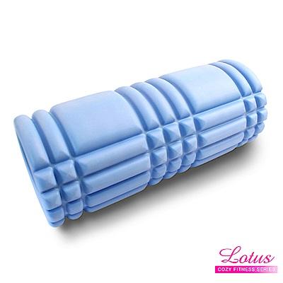 瑜珈柱 EVA瑜珈滾筒 按摩滾筒-LOTUS-寧靜藍
