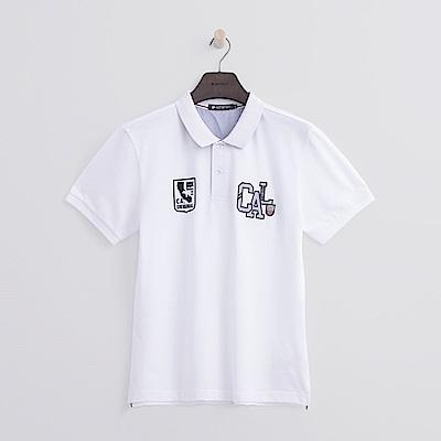 Hang Ten - 男裝 - CAL繡章POLO-白色