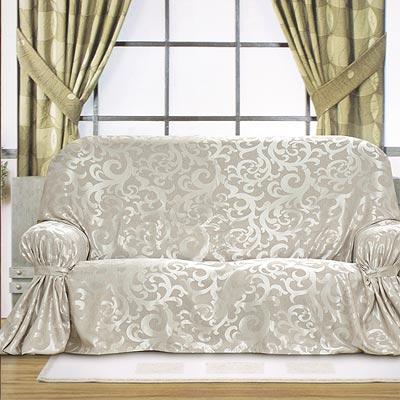 《布安於室》蔓澤DIY3人座沙發罩-銀灰