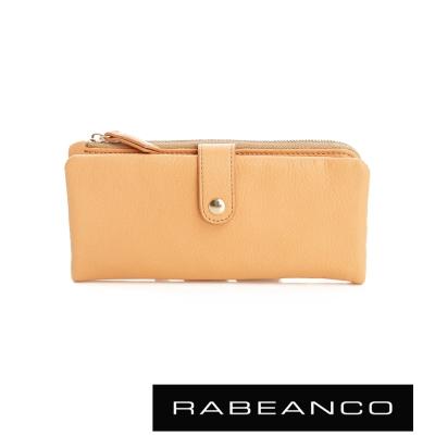RABEANCO 迷時尚系列多格層拉鍊長夾 - 淡香橙