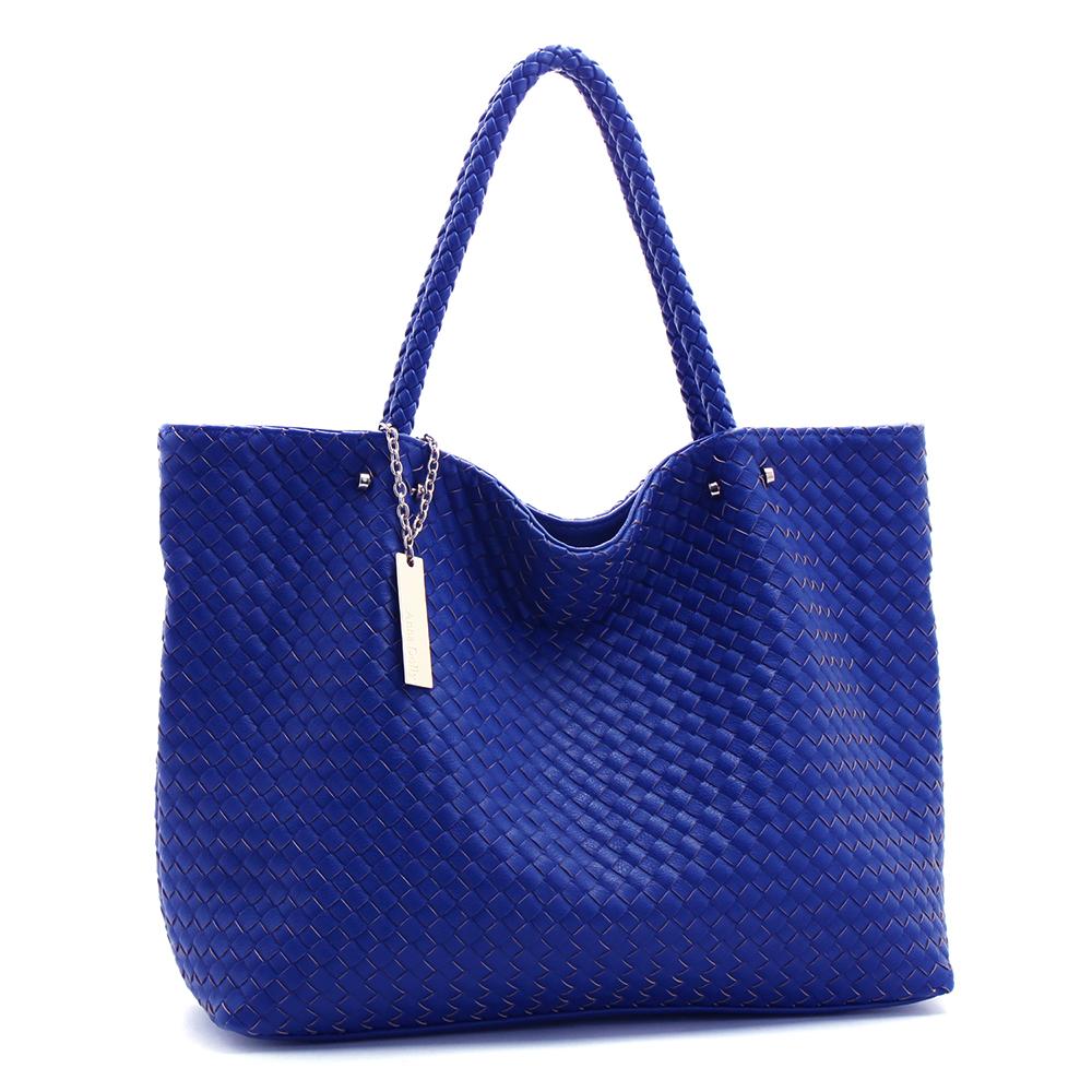 ANNA DOLLY 編織購物包 Weave系列 風格藍