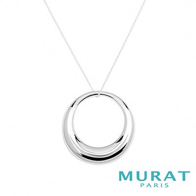 MURAT Paris米哈巴黎 時尚圓環長版項鍊(大)