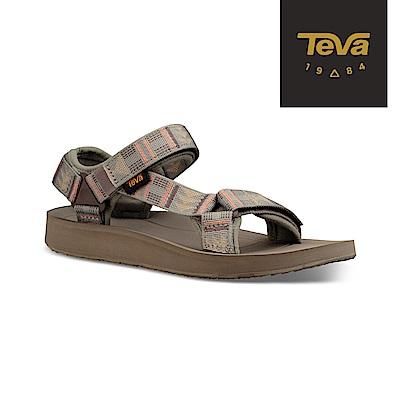 TEVA 美國-女 Original Premier 經典織帶涼鞋 圖騰沙漠