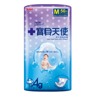 康乃馨-寶貝天使-紙尿褲M號50片-包