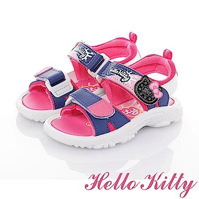 HelloKitty童鞋 OREO系列 輕量減壓休閒涼鞋-藍