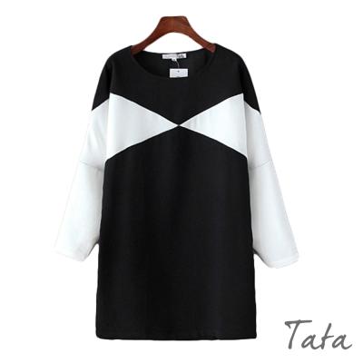 黑白拼接洋裝-TATA