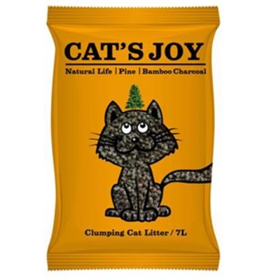 Cats Joy喜樂貓 凝結型天然松木貓砂-竹炭 7L