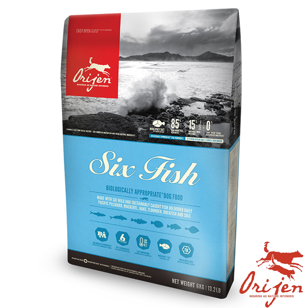 【Orijen 渴望】成犬六種魚無穀天然糧 2公斤 X1 包
