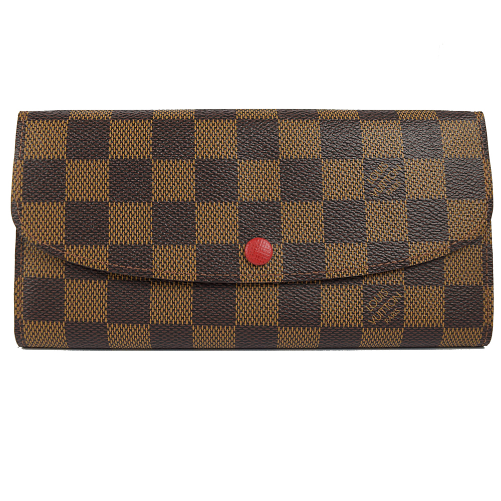 LV N63544 EMILIE 棋盤格紋扣式拉鍊零錢長夾