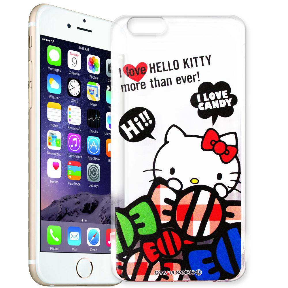 Hello Kitty iphone 6 plus / 6s plus 透明軟式手機殼 糖果款