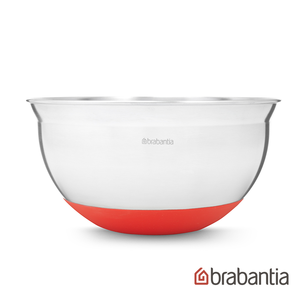【Brabantia】 不鏽鋼調理缽1.6L-熱情紅