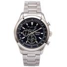 SEIKO萬年曆雙眼計時手錶(SPC125P1)-深藍面/42mm