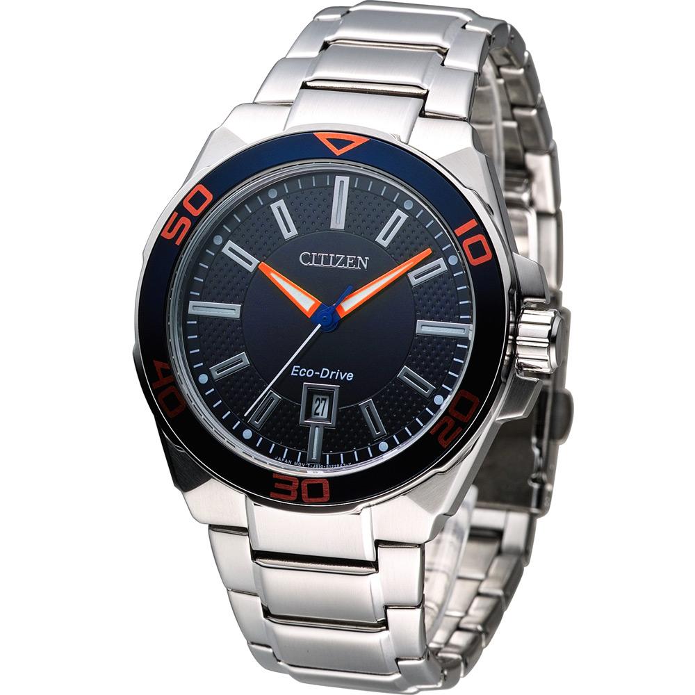 CITIZEN GENT'S 光動能時尚腕錶(AW1191-51L)-藍/42mm