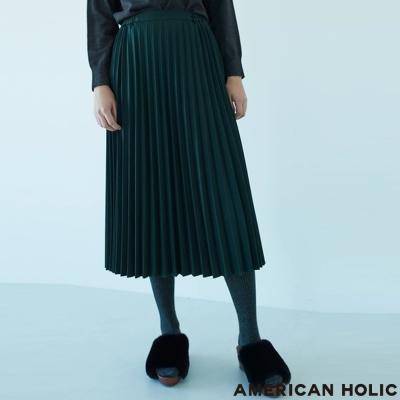 AMERICAN HOLIC 俐落百摺長裙