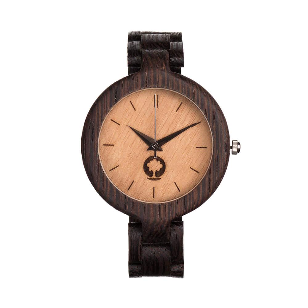 Plantwear 手工木製手錶 Glamour 象牙米-鐵刀木/35mm