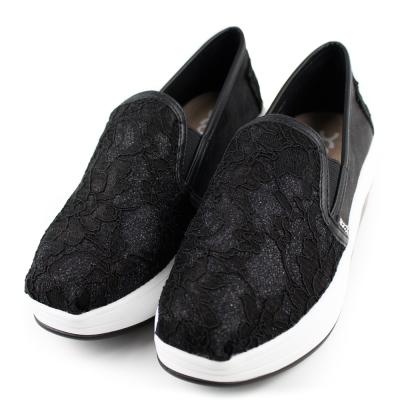 XCESS 女增高鞋 GW046BLK 蕾絲黑