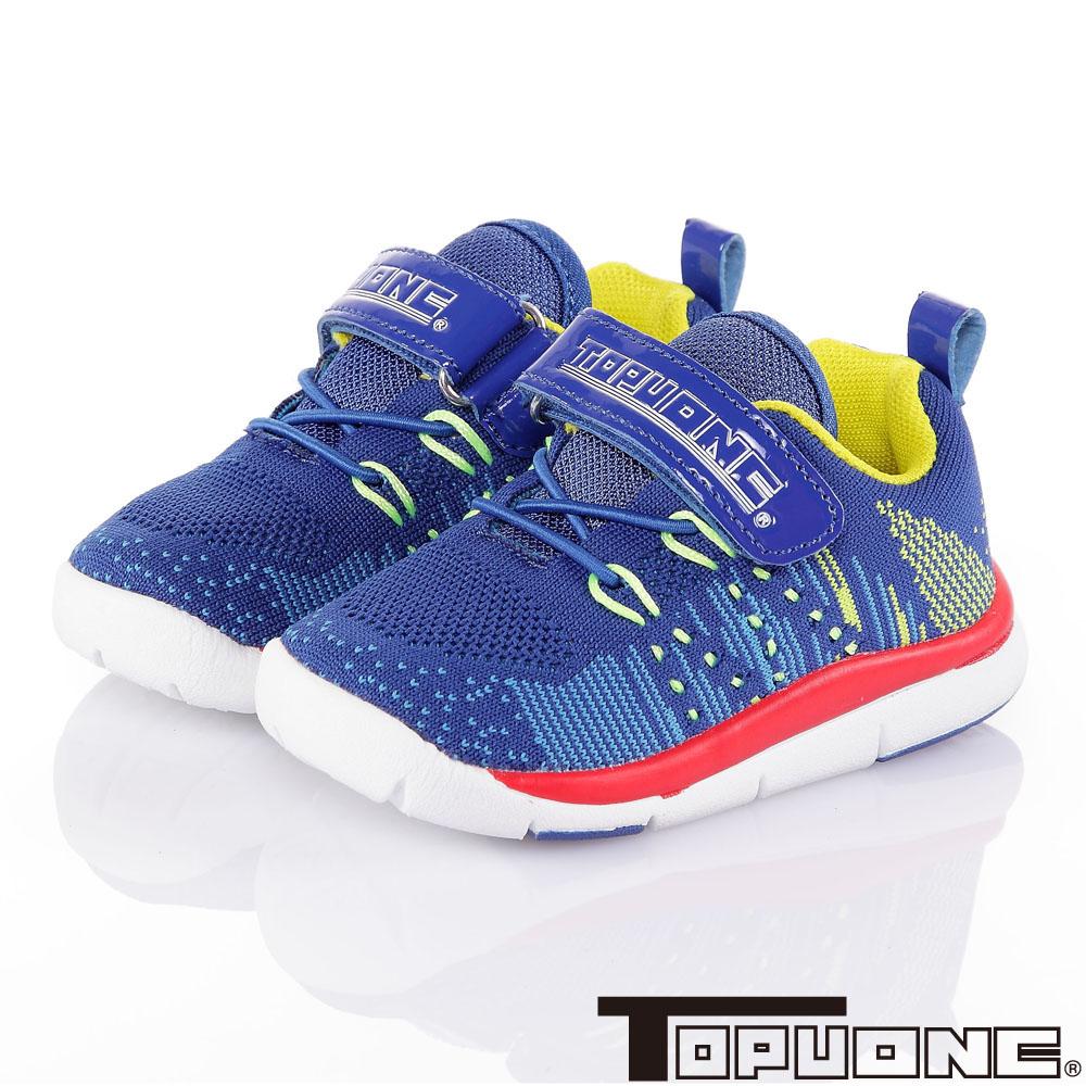 TOPUONE 飛織輕量透氣抗菌防臭童鞋-藍(14-19cm)