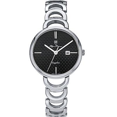 Olym Pianus 奧柏表 靜謐時光石英腕錶-黑 2490LS