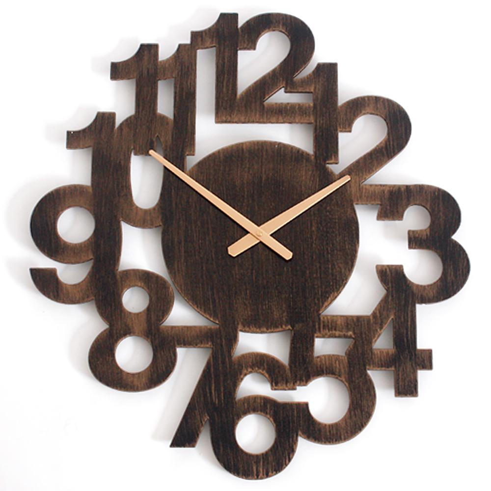 a.cerco- 復古立體大數字掛鐘-古銅