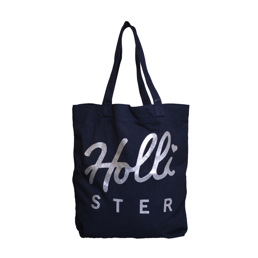 HOLLISTER Co. HCO. 英文印花肩側背包-海軍藍