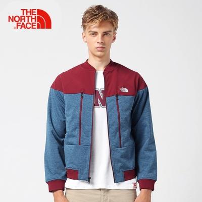 The North Face北面男款藍紅復古運動外套