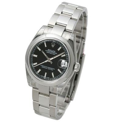ROLEX 勞力士 Datejust 178240 蠔式恆動日誌型腕錶-黑/31mm
