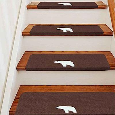 WIDE VIEW 可重覆撕貼夜光樓梯安全防滑墊5入(D517-2)