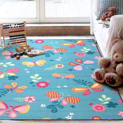 范登伯格 - 朝暘 進口地毯-花之舞 - 藍 (小款-100 x 150cm)