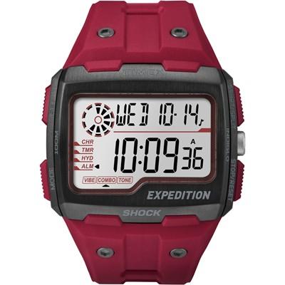 TIMEX 天美時EXPEDITION SHOCK戶外系列電子手錶-紅/50mm