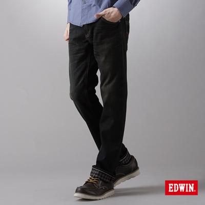 EDWIN-強烈氛圍-EDGE-W-F中直筒保溫褲-男款-中古藍