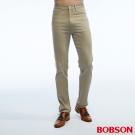 BOBSON 男款高腰吸濕快乾深卡其色褲