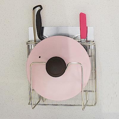 樂貼工坊 不鏽鋼鍋蓋架/刀具架/金屬貼面-21.5x6x21.5