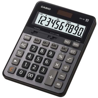CASIO 卡西歐 10 位元 大螢幕顯示商用計算機-DS-1B(黑/灰)
