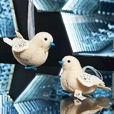 STEIFF德國金耳釦泰迪熊 婚禮白鴿 成雙成對禮盒(設計師新創系列)