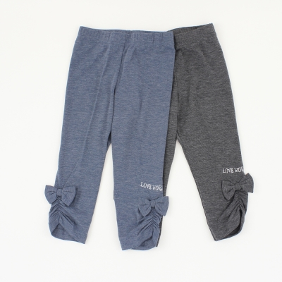 愛的世界 MYBABY 彈性蝴蝶結保暖褲2件組 6~8歲