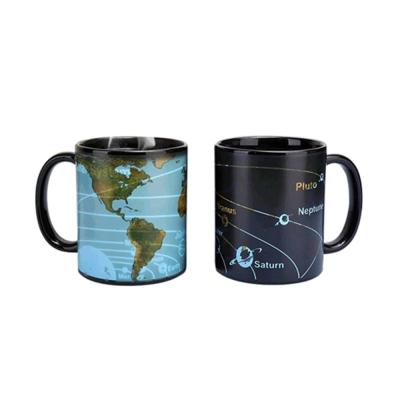 賽先生科學 行星地圖感溫變色杯