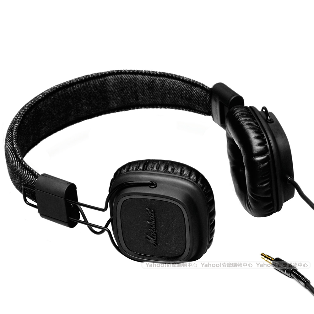 Marshall Major PitchBlack 瀝青黑耳機