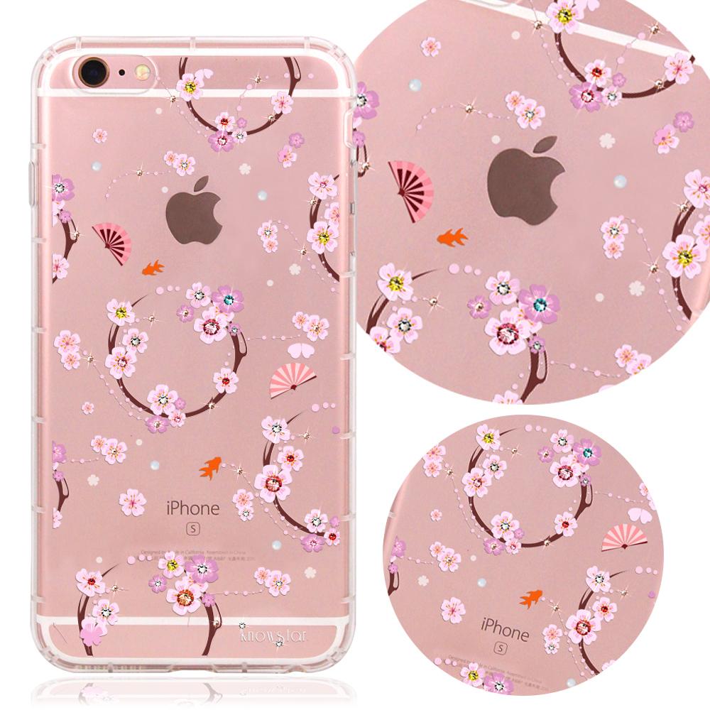 KnowStar APPLE iPhone6s Plus奧地利水晶彩繪防摔氣墊鑽殼-櫻之舞