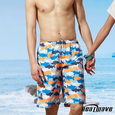 Heatwave熱浪 男海灘泳褲-悠游藍鯊