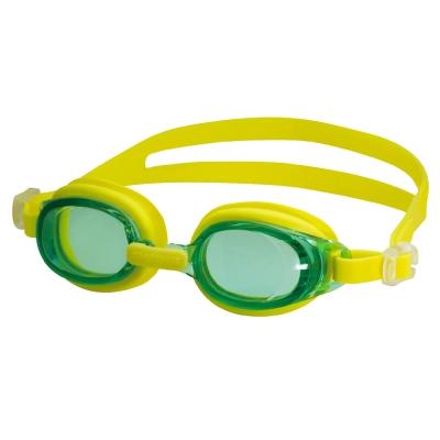 【SWANS 日本】專業光學兒童專用泳鏡 ( 防霧/抗UV/矽膠 SJ-7 綠/黃)