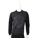 Versus Versace 獅頭圖騰印花黑色太空棉運動衫