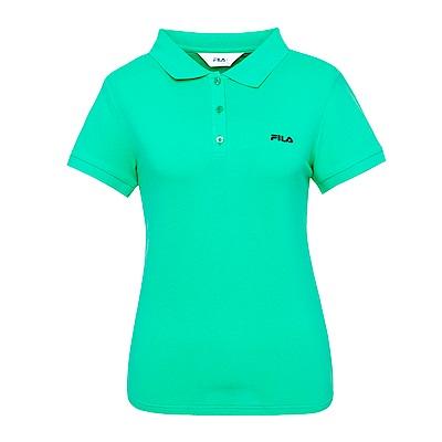 FILA 女款短袖POLO衫-綠 5POS-1511-GN