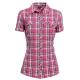 【hilltop山頂鳥】女款吸濕快乾短袖襯衫S06F50-玫瑰粉/紫格子 product thumbnail 1