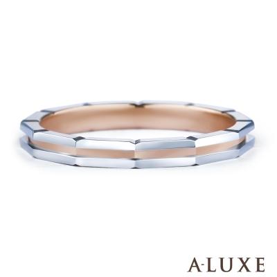 A-LUXE 亞立詩鑽石 PT900鉑金情侶結婚戒指-男戒
